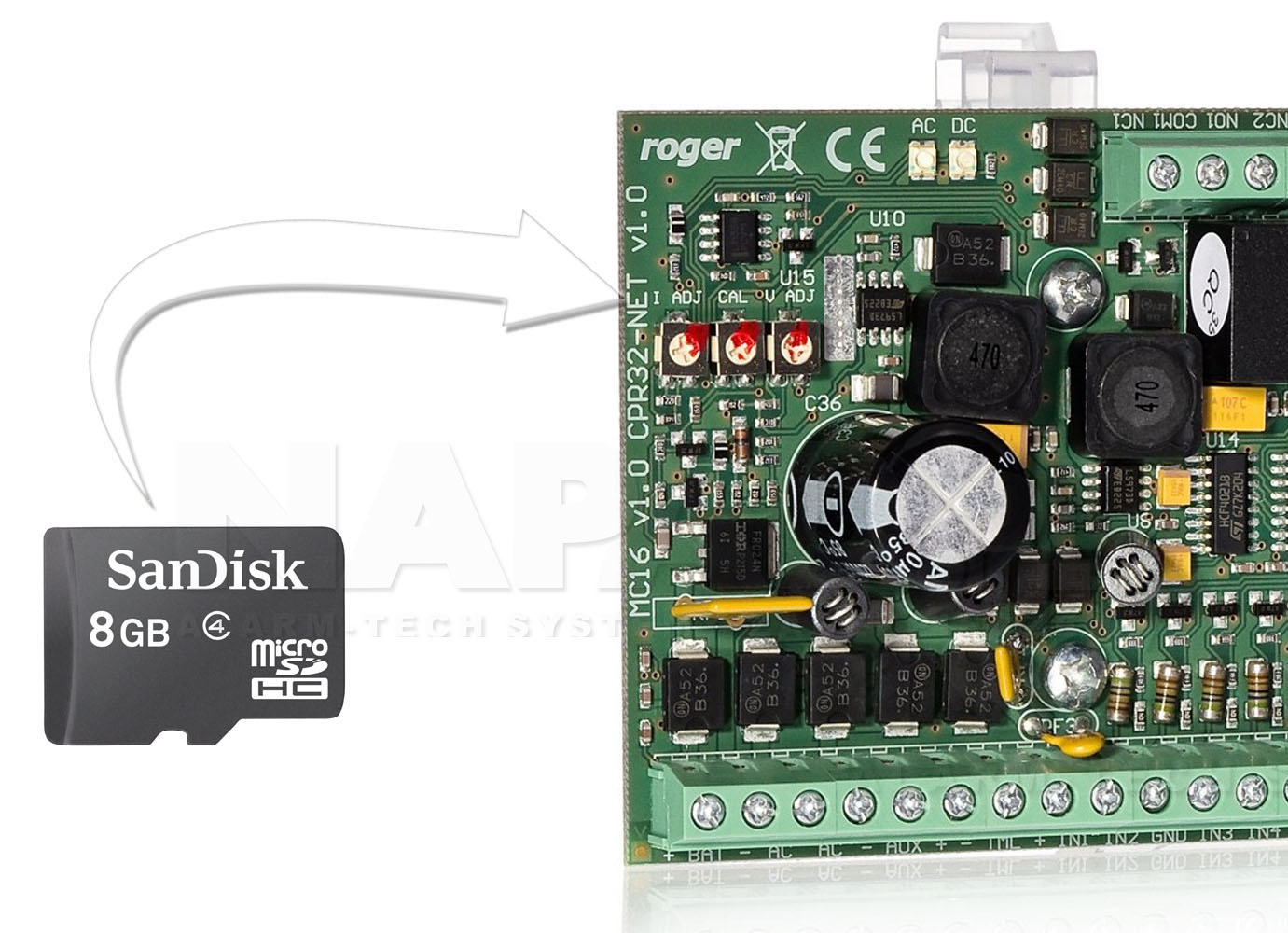 MC16-PAC - Licencja wgrana na karcie microSD.