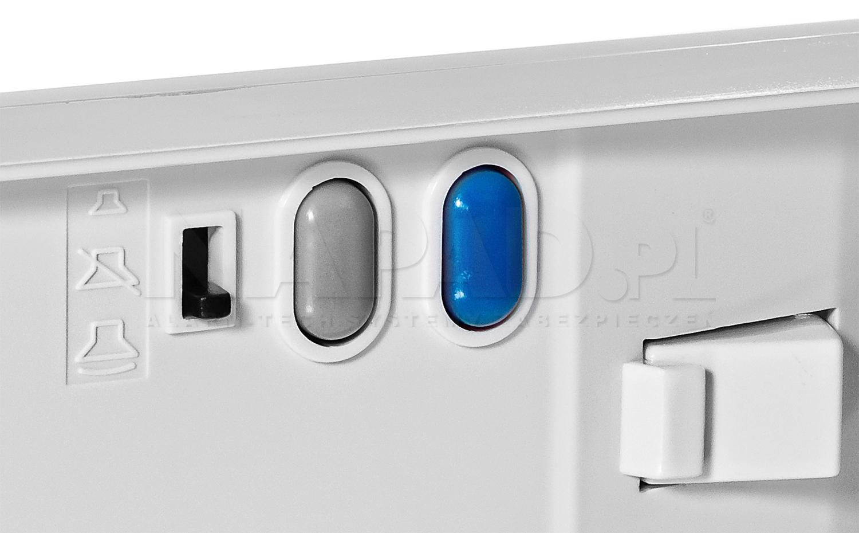 LM-8/W/1-6 - 3 poziomowa regulacja głośności i dodatkowy przycisk.
