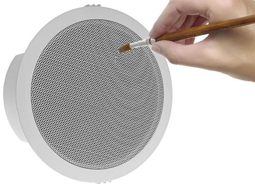 Łatwa absorpcja farb emulsyjnych przez głośniki HQM.
