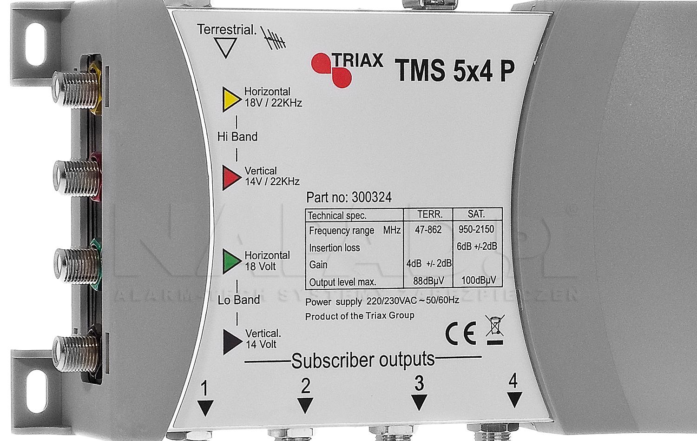 TMS-5x4P - Opis połączenia multiswitcha.