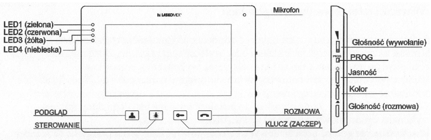 MVC8150 - Opis panelu monitora.