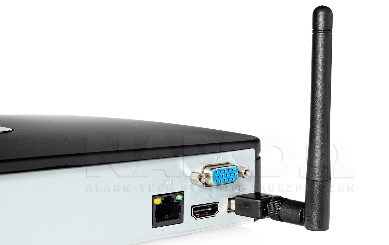 Przykładowe podłączenie modułu WiFi do rejestratora.