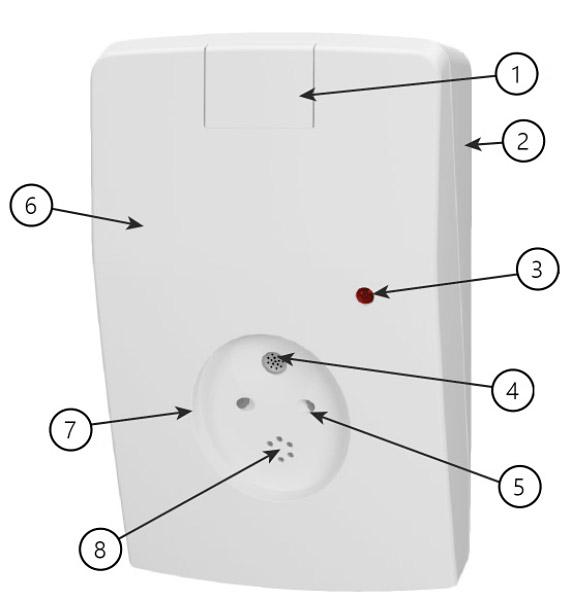 Opis zewnętrzny detektora AD 800-AM.