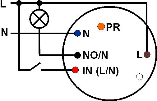 Schemat podłączenia sterowanego łącznika IQE-IQPLC.