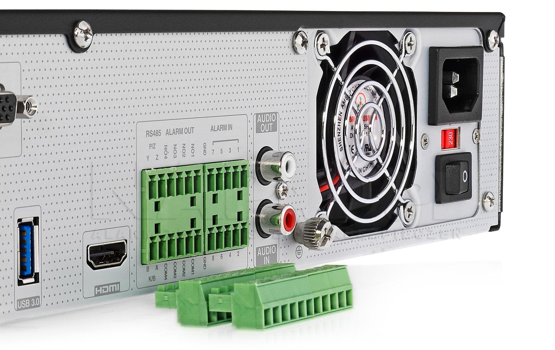 PX-NVR3254H - Złącza alarmowe.