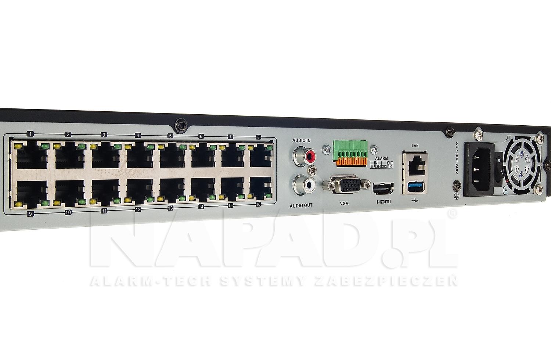 Rejestrator sieciowy Hikvision z wbudowanym switchem PoE.