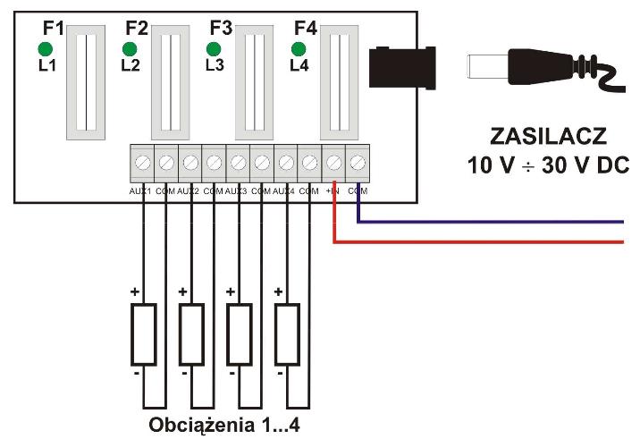 Przykładowy schemat podłączenia AWZ576
