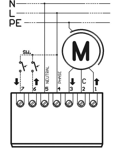 STM - schemat podłączenia sterownika.