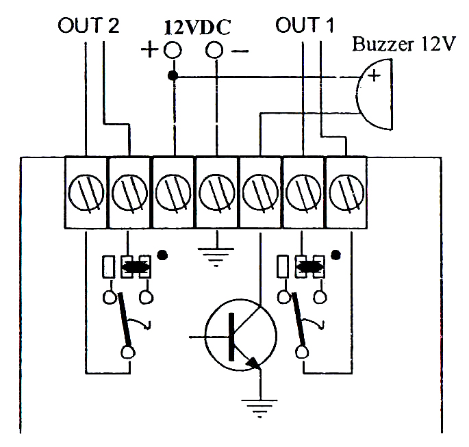 DWM50HM - Schemat podłączenia sterownika radiowego.