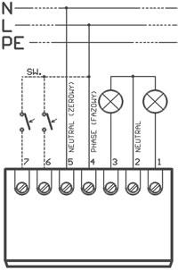 STM2K - schemat montażowy sterownika.