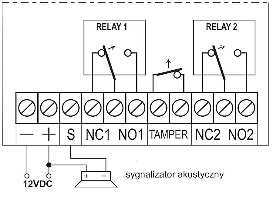 U2HR - Schemat podłączenia odbiornika.