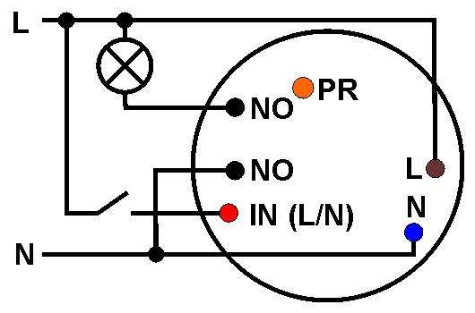 Schemat podłączenia sterowanego łącznika IO-IQPLC.