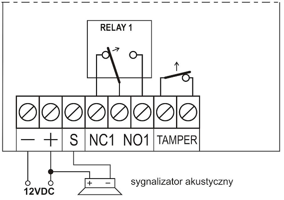 U1HS - Schemat podłączenia odbiornika.