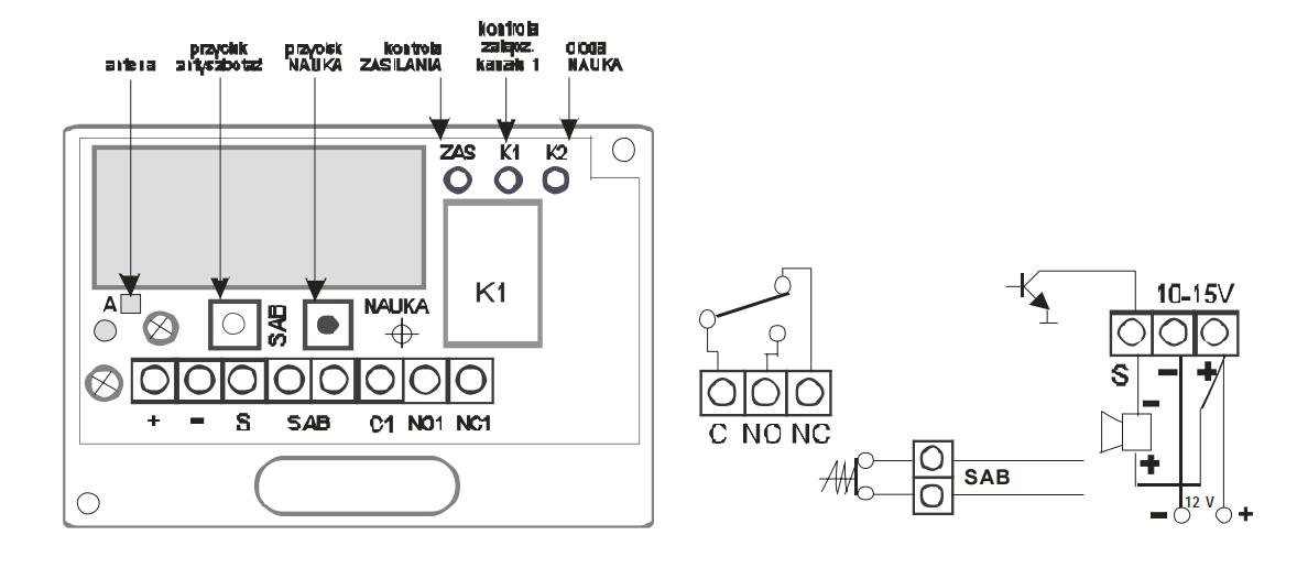 Schemat uniwersalnego odbiornika radiowego RSU-K01.