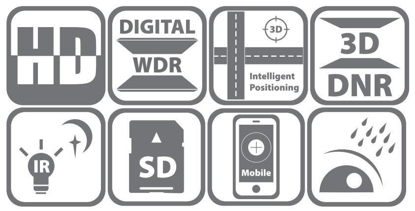 DS-2DE4220IW-DE - Ikonki specyfikacji kamery.