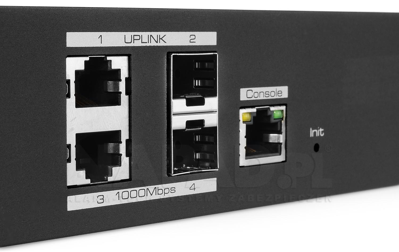 UTP7216E-L2 - Porty Uplink w switchu PoE IPOX.
