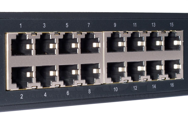 TL-SG1016D - Porty Ethernet w przełączniku.
