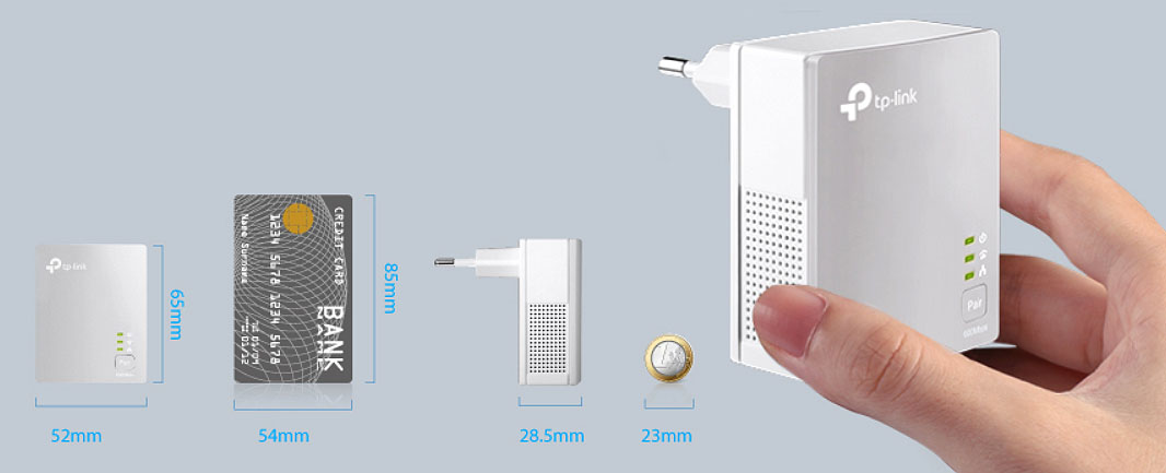 TL-PA4010KIT - Miniaturowe wymiary urządzenia.