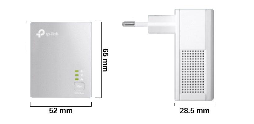 TL-PA4010KIT - Wymiary transmiterów sieciowych.