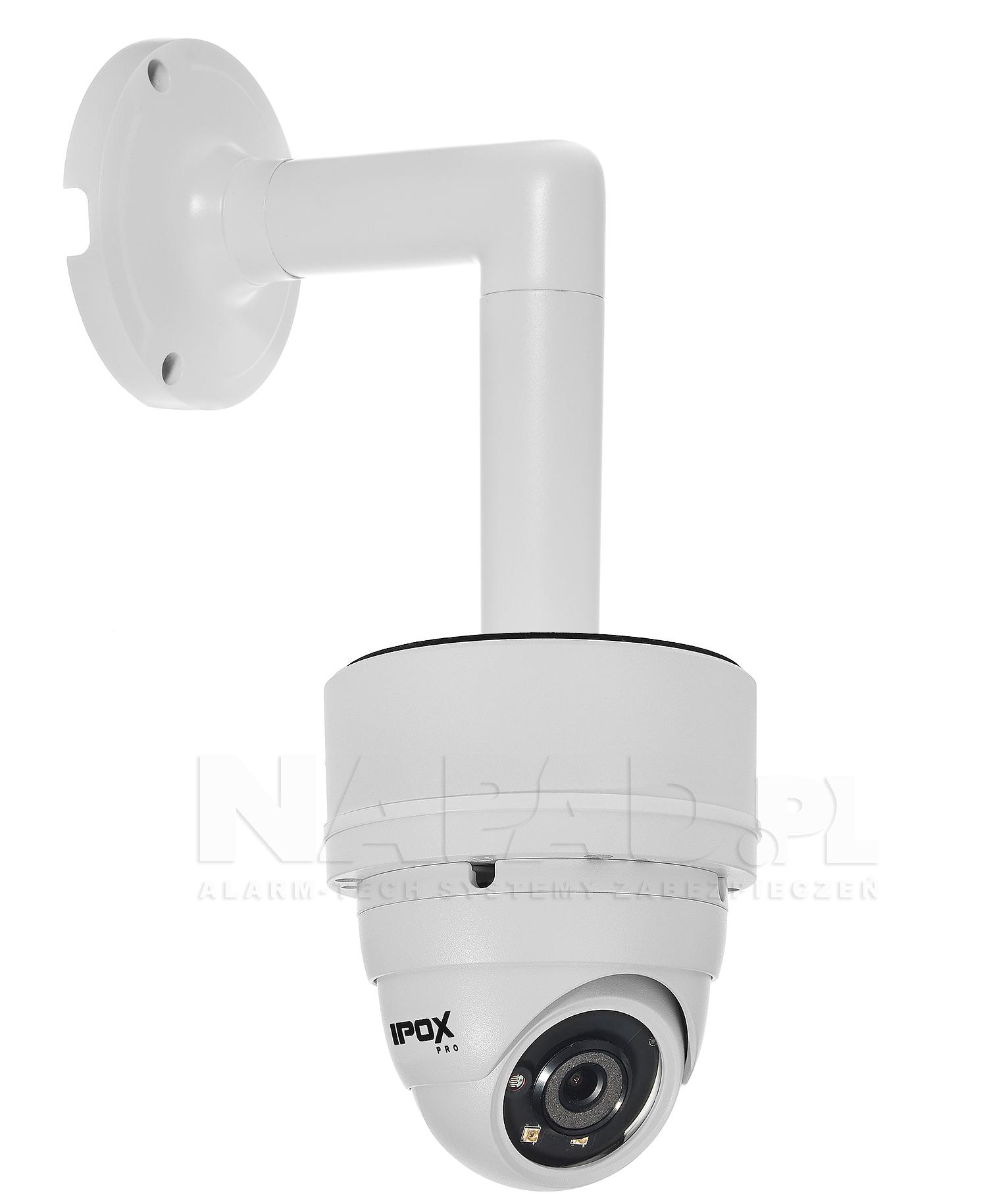 JB-405 - Przykładowa instalacja kamery kopułkowej, podstawy i uchwytu ściennego.