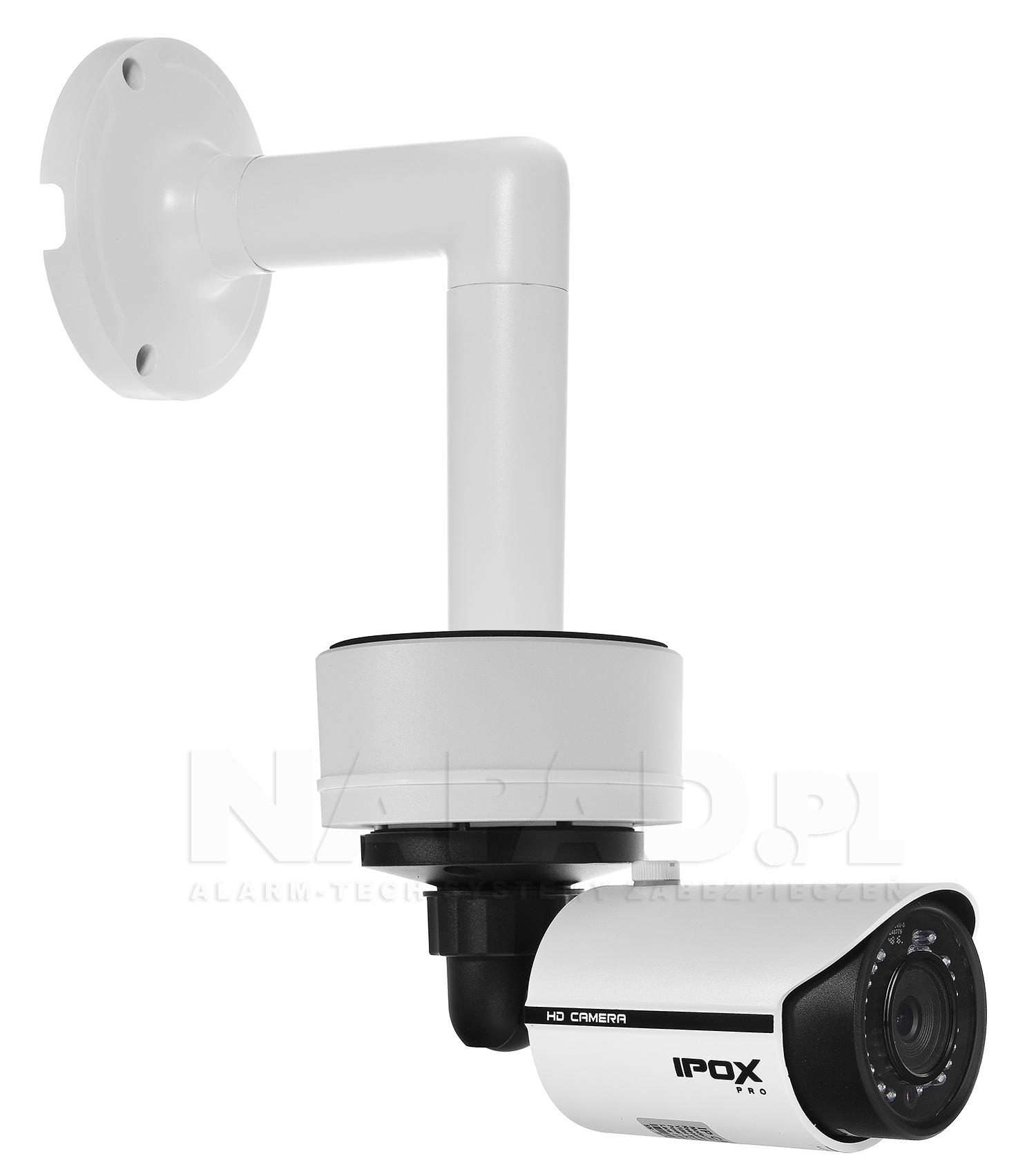 JB-405 - Przykładowa instalacja kamery tubowej, podstawy i uchwytu ściennego.