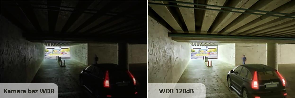 PX-DI2028-P / PX-DI2036-P - Funkcja WDR zapewnia czytelność całości obserwowanej sceny.