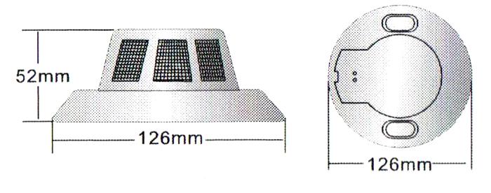 Wymiary kamery przemysłowej DYM60E.