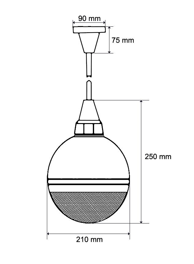 Wymiary głośnika kulowego HQM-SK10265.