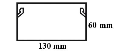 Wymiary kanału elektroinstalacyjnego.
