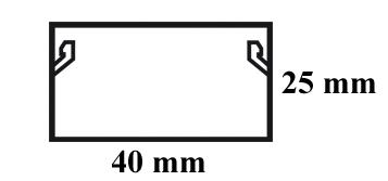 Wymiary listwy elektroinstalacyjnej 40x25.