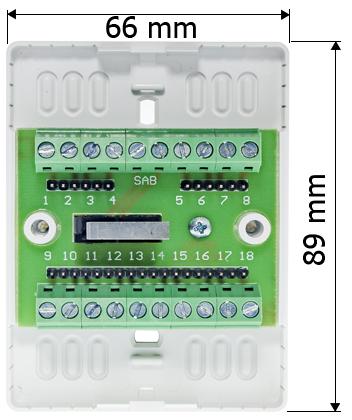 Wymiary modułu zacisku montażowego MZ 2L.