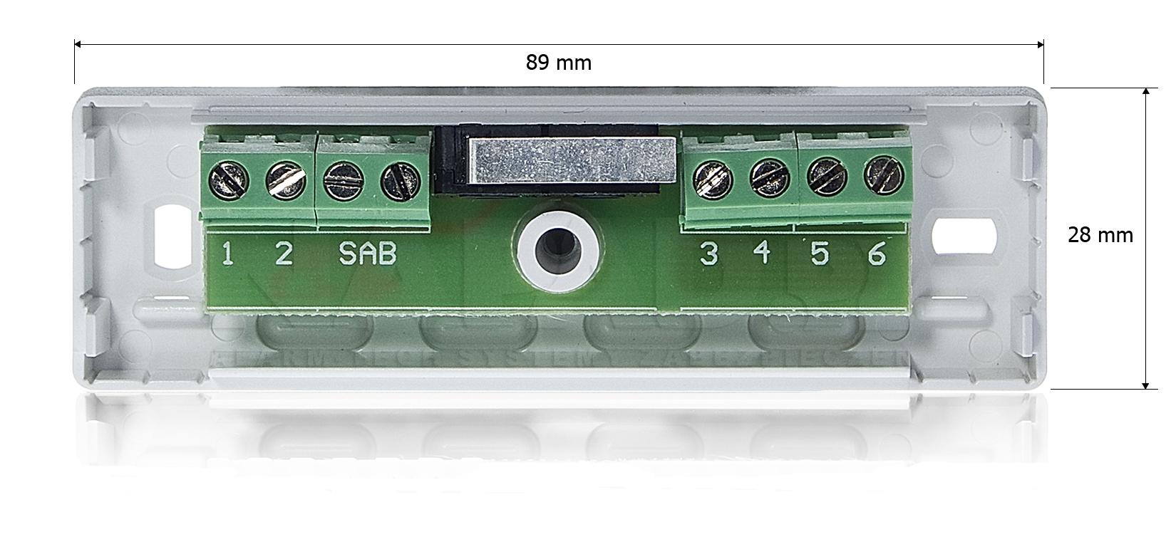 Wymiary modułu zacisku montażowego MZ 1S.