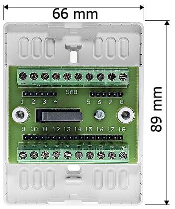 Wymiary modułu zacisku montażowego MZ-2S.