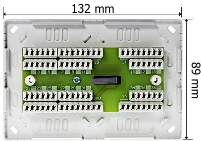 Wymiary modułu zaciskowego MZ-3CT.