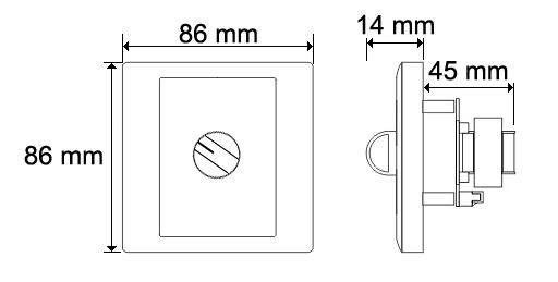 Wymiary regulatora głośniości HQM-RG50.