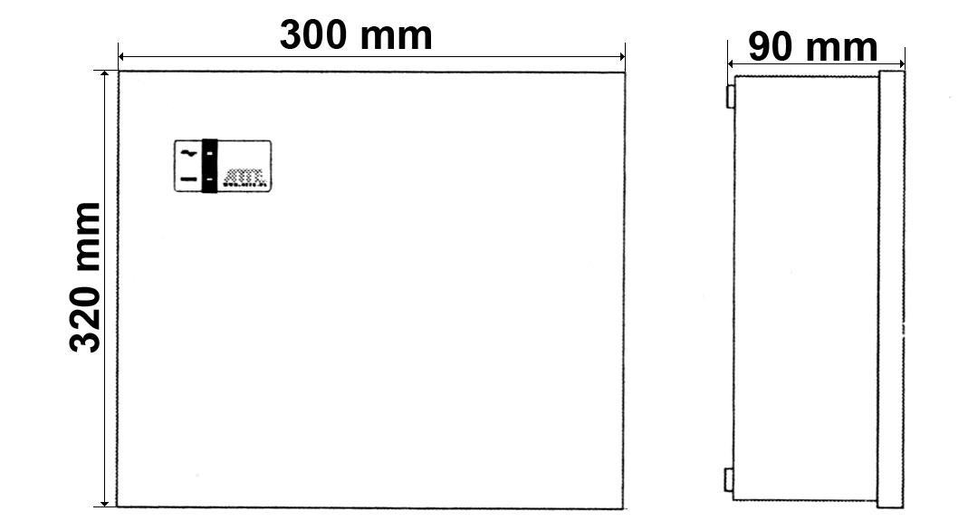 Wymiary obudowy IPUPS-5-11-F.