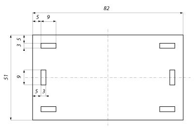 Wymiary tabliczki informacyjnej przewodów światłowodowych.