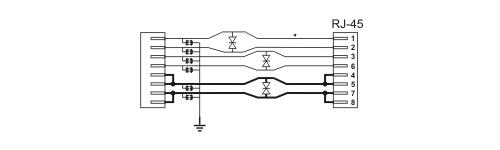 PTF-16R-ECO/PoE - Uproszczony schemat blokowy.