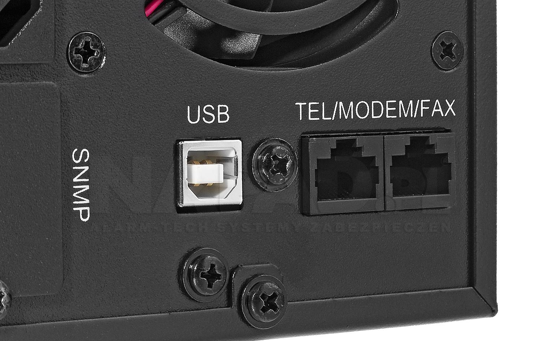 Zasilacz AT-UPS1000-S-LCD zbliżenie na tylni panel