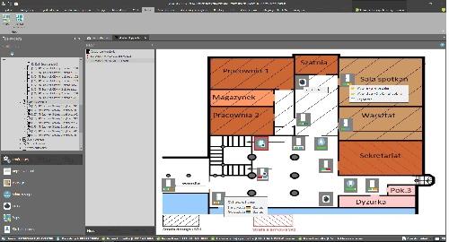 Wizualizacja i sterowanie systemem z poziomu map.