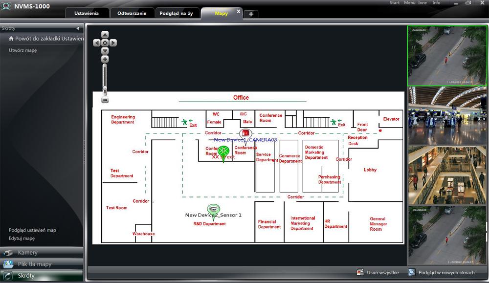 Przykładowe zastosowanie funkcji wirtualne mapy (E-MAP).