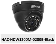 Kamera Analog HD 2Mpx DH-HAC-HDW1200M-0280B-BLACK.