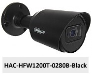 Kamera Analog HD 2Mpx DH-HAC-HFW1200T-0280B-BLACK.