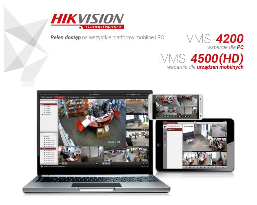 Hikvision iVMS oprogramowanie do kamer i rejestratorów w polskiej wersji językowej.