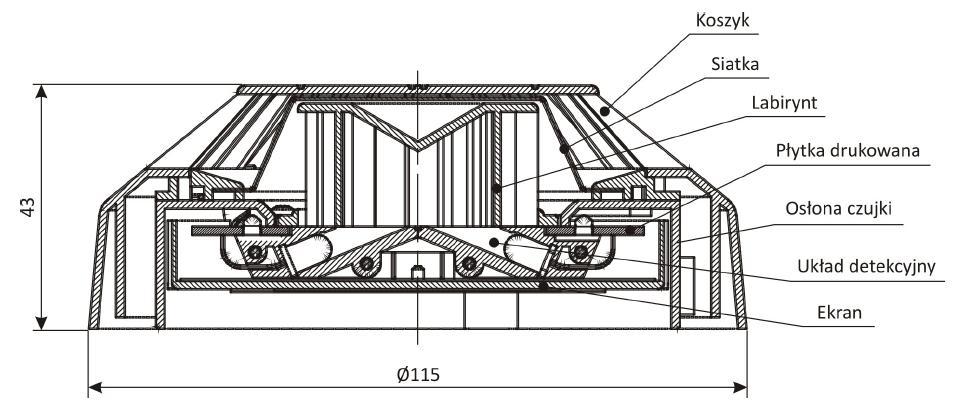 Konstrukcja czujki DUR-4046