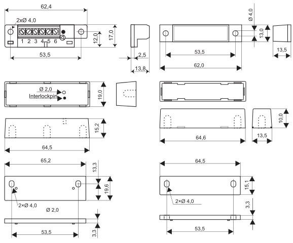 Wymiary czujnik magnetyczny MC 470