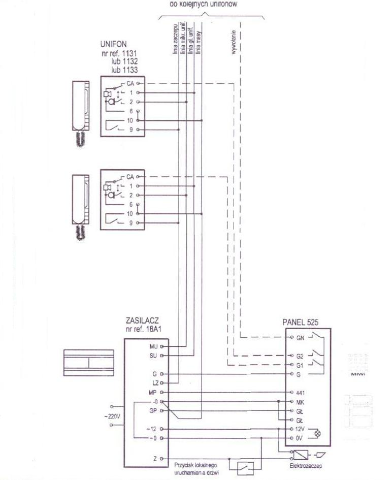 Panel Rozmówny Z 5 Przyciskami Miwus 525 5d Domofon 5 Przyciskowy