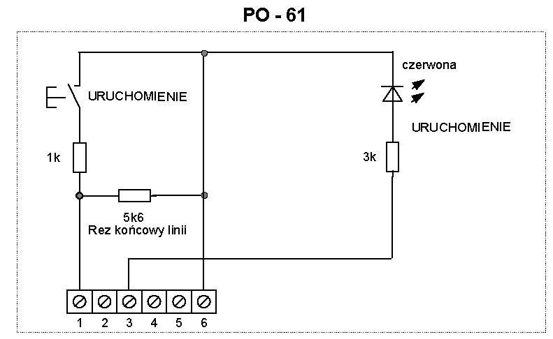 Schemat ideowy przycisku oddymiania PO-61