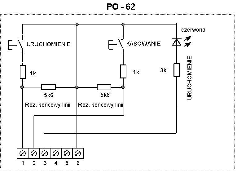Schemat ideowy przycisku oddymiania PO-62