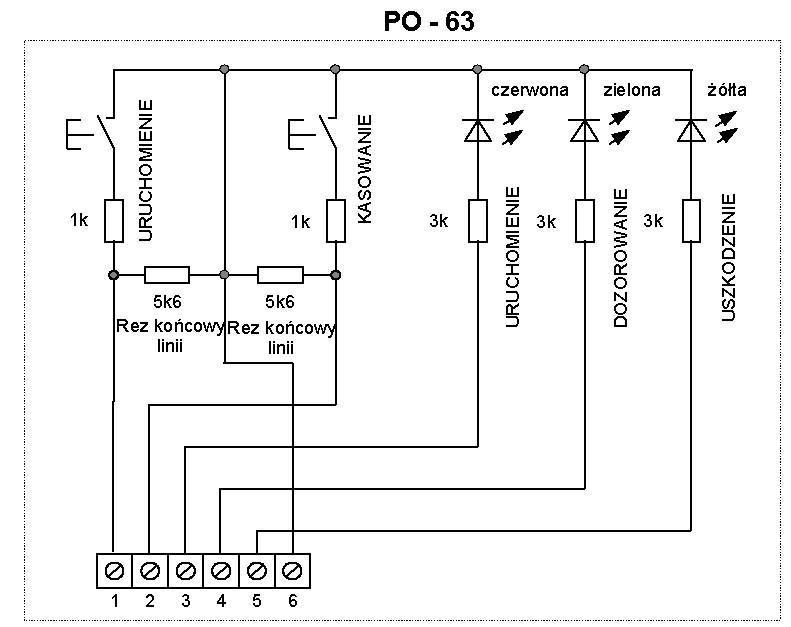 Schemat ideowy przycisku oddymiania PO-63